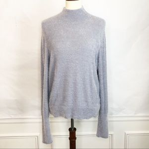 Leith Eyelash Knit Pullover Gray Sweater XL NWT